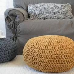 Mustard Yellow Bean Bag Chair Design Uk Crochet Pouf Ottoman Chunky Knit Pouffe Gold Nursery | Etsy