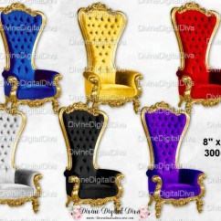 Throne Chair Cover Eames Outdoor Lounge Etsy Jewel Tones High Back Royal Velvet Silver Gold Blue Purple Red Black Clipart Digital Instant Download