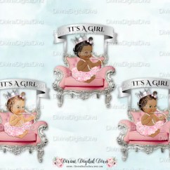 Baby Girl Chair Best Patio Chairs Ballerina Pink Silver Banner Tutu Crown Pearl Etsy Image 0