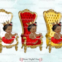 Baby Throne Chair Leather Woven Red White Gold African American Ballerina Etsy Image 0