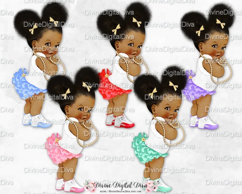 Natural Hair Pony Tails Afro Puffs Pink Mint Lavender Blue Etsy