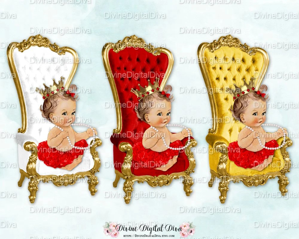 baby throne chair charcoal banquet covers red white gold light skin tone ballerina etsy image 0