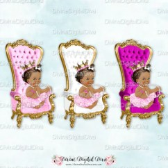 Baby Throne Chair Pizza Bean Bag Fuchsia White Pink Gold African American Etsy Image 0