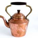 Vintage Copper Brass Teapot Hallmarked Odt Portugal
