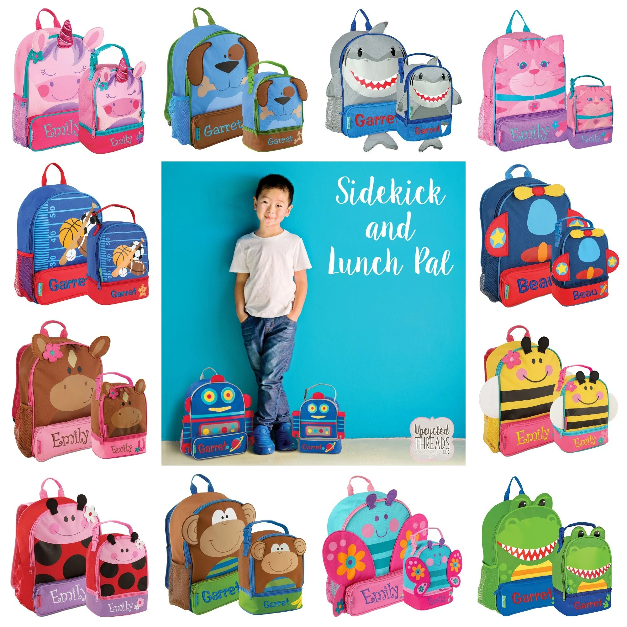 personalized backpack set boys