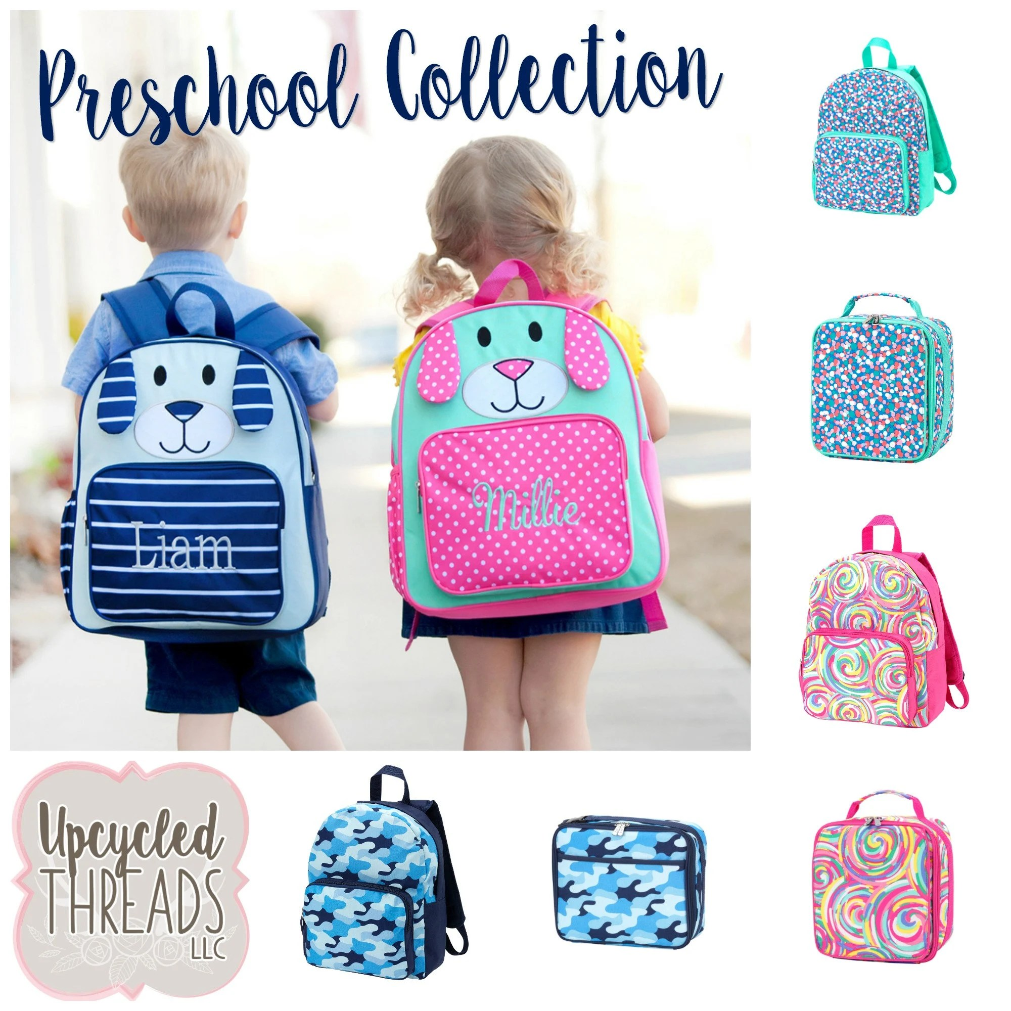 personalized toddler backpack lunchbox