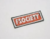 FSociety Patch,  Iron On Patch, Mr. Robot cosplay, Mr. Robot Patch, Cosplay Patch