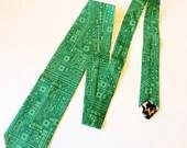 Computer circuit necktie, computer nerd, science teacher gift, computer teacher gift, geek fashion, geek chic, geek gift, geeky gift, geeky