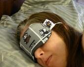 Nintendo Super Mario Brothers Greyscale Sleep Mask