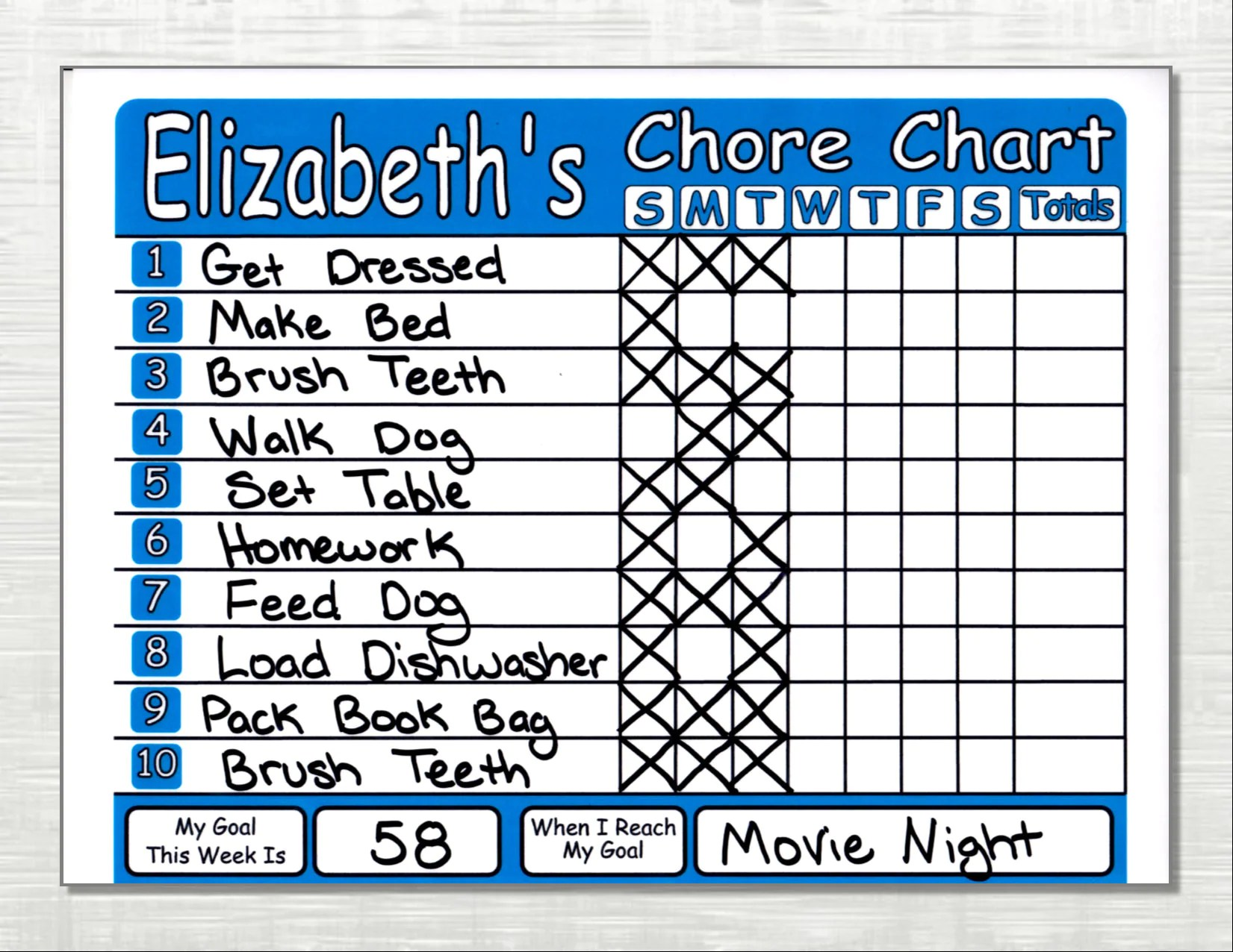 Chore Chart Shipped Works Like Dry Erase Board Set Chores