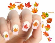 fall nail decals autumn water slide