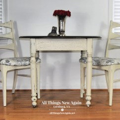 Small Kitchen Table And Chairs Set Office Workout Chair Abs Dining Etsy Farmhouse Breakfast Nook White
