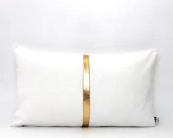 metallic gold pillow etsy