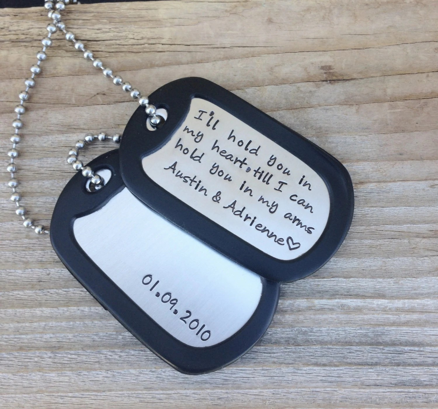 hand stamped dog tag
