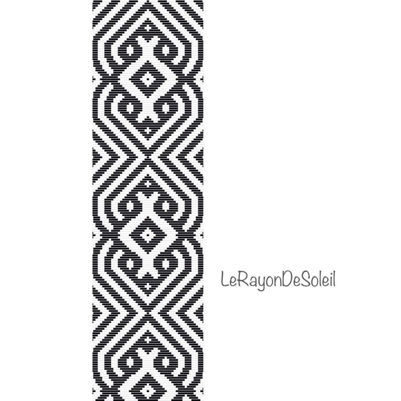 Bead loom pattern Bracelet Pattern Instant Download Beaded