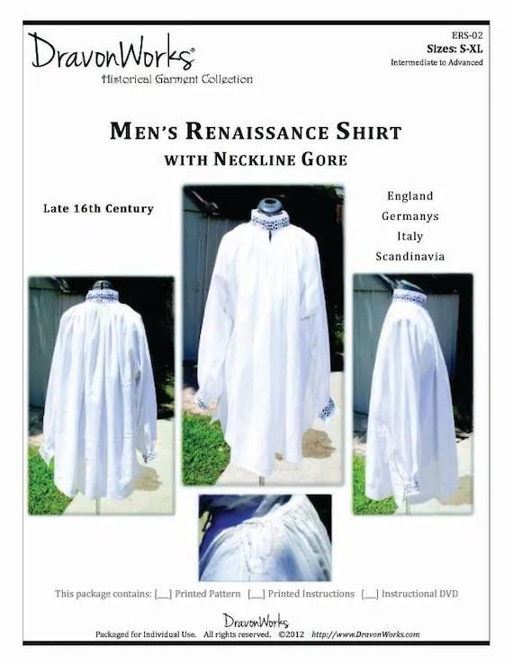 Renaissance Shirt Pattern : renaissance, shirt, pattern, Pattern, Century, Men's, Renaissance, Shirt