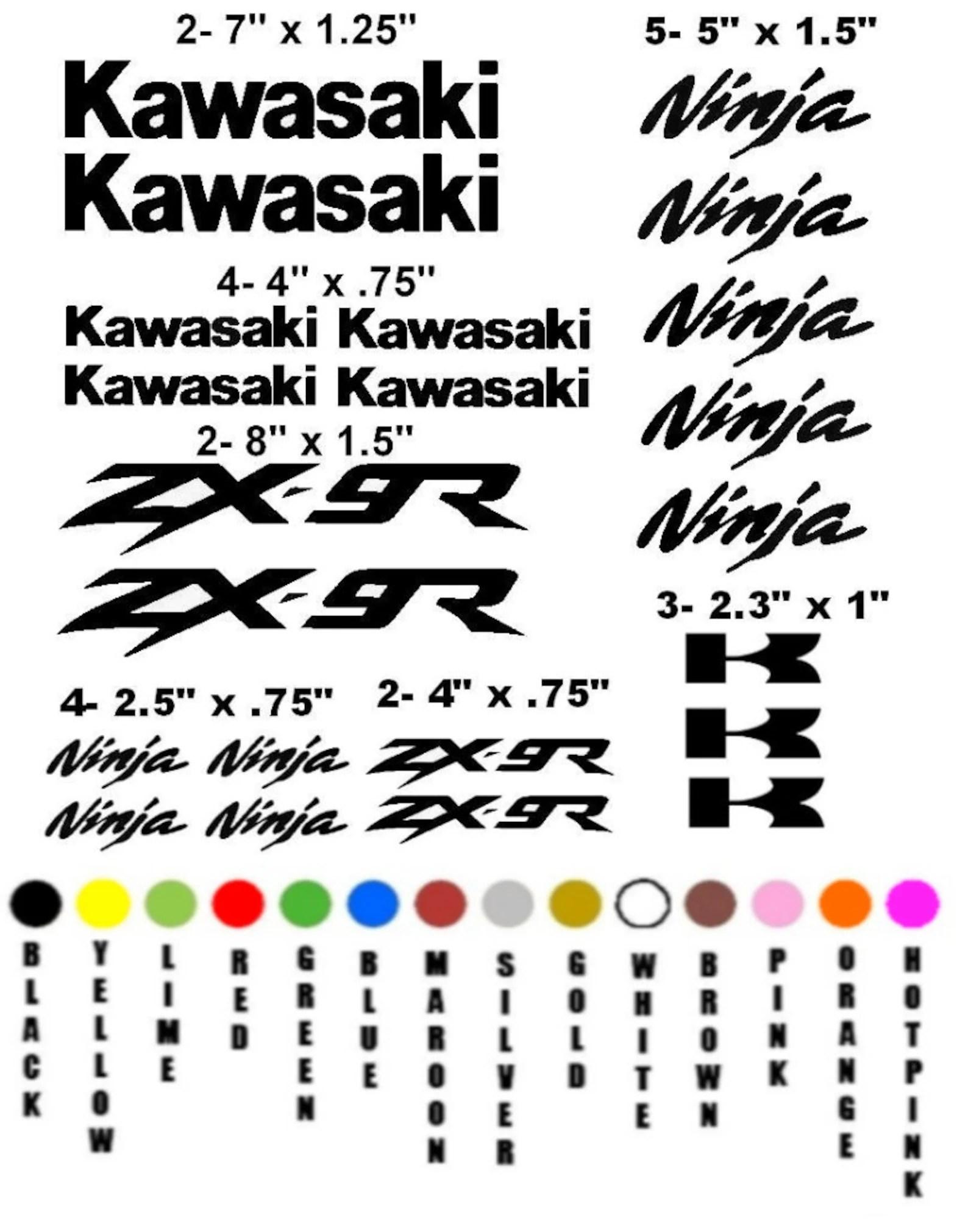 KAWASAKI ZX-9R NINJA motorcycle sticker decal kit race