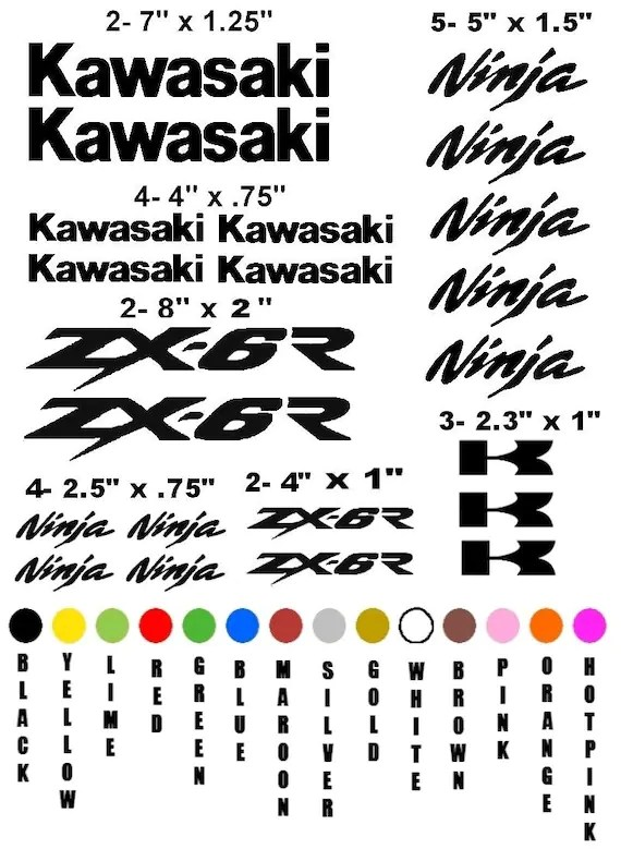 KAWASAKI ZX-6R NINJA motorcycle sticker decal kit race