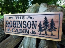 Cabin Signs Wooden Custom Outdoor Sign