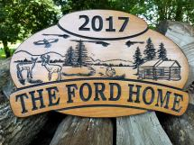 Custom Outdoor House Signs Wooden