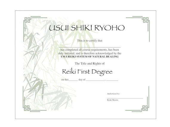 Printable Reiki Symbols Level 1