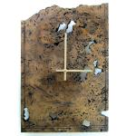 18 Travertine Marble Stone Clock Natural Stone Wall Etsy