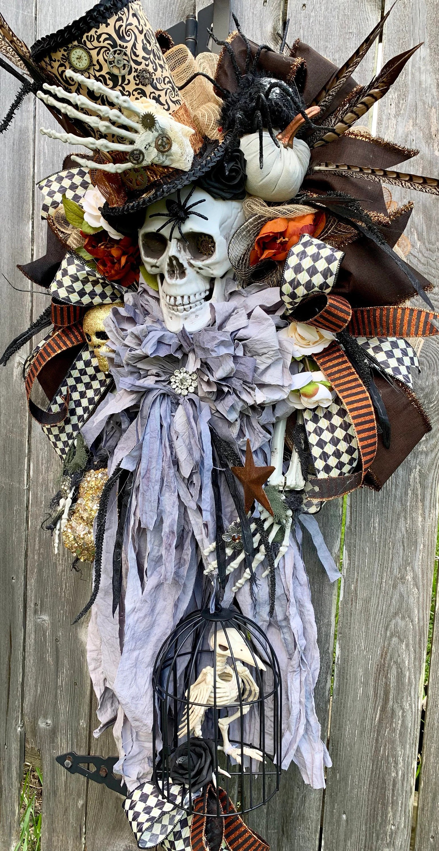 Halloween Wreath Steam Punk Wreath Spooky Halloween