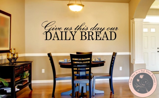Kitchen Decor Kitchen Wall Decal Christian Wall Decal Etsy