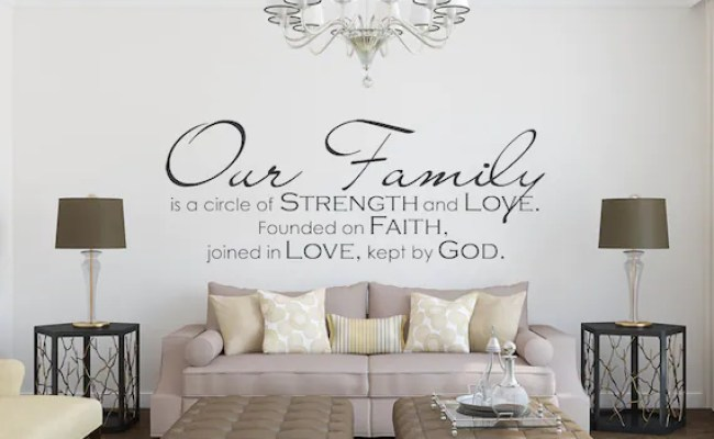 Family Wall Decal Our Family Family Quote Family Wall Etsy
