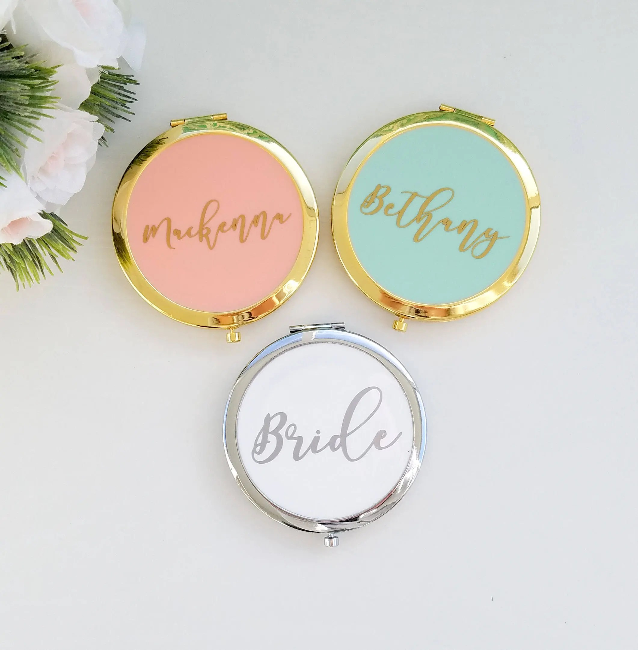 bridesmaid compact mirror compact