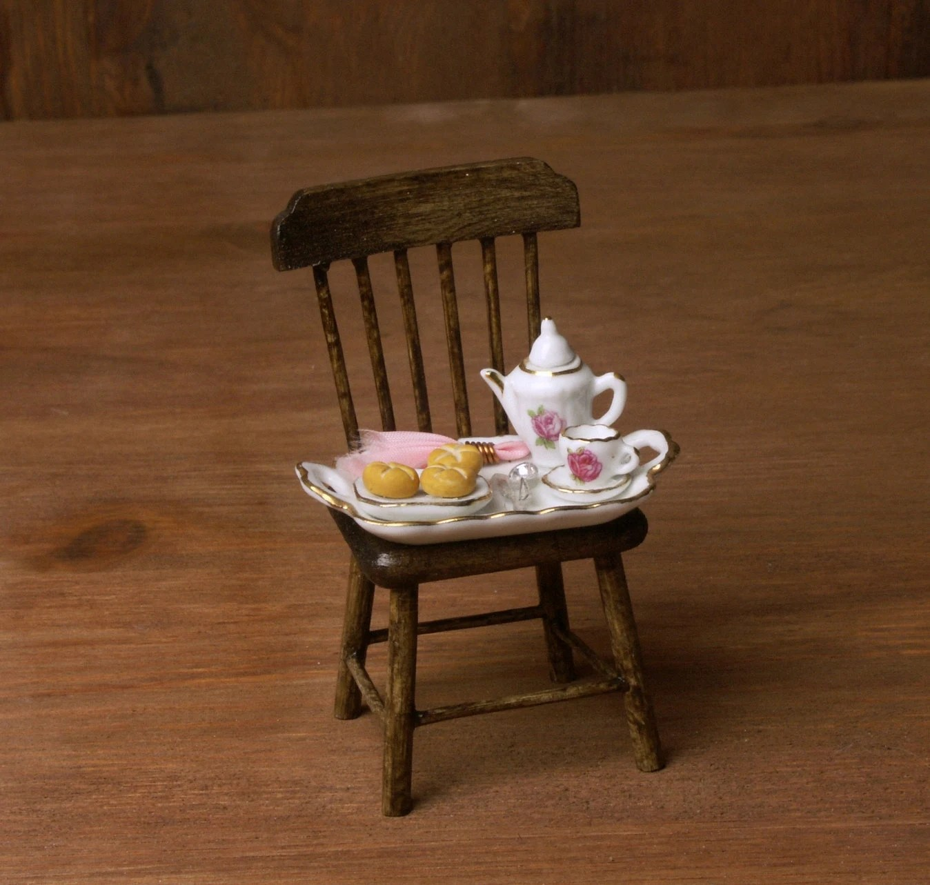 wood kitchen chairs cabinets knoxville rustical miniature wooden chair for your dollhouse etsy