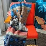 Throw Blanket Boho 6 X4 Blanket Throw Tassel Throw Etsy