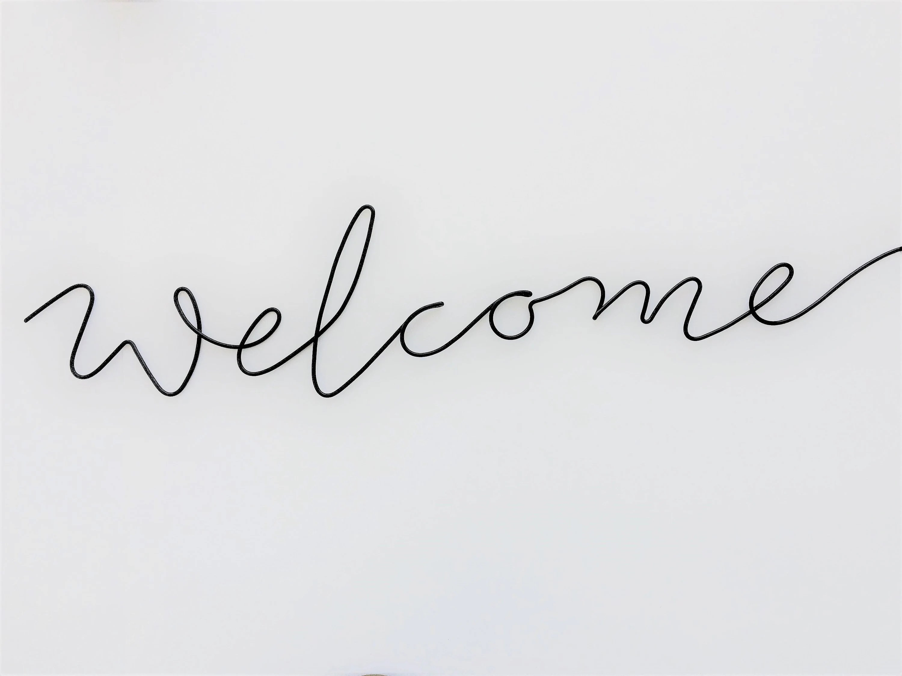 welcome sign/ entry way sign/ new house gift/ wire sign