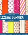 Bright Summer Colors Digital Paper Hot Pink Orange Yellow Etsy
