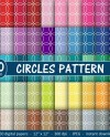 50 Circle Pattern Digital Papers Color Backgrounds With Etsy