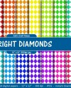 Bright Diamond Digital Papers 14 Rainbow Colors Backgrounds Etsy
