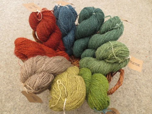 Naturally dyed British Herdwick DK worsted spun yarn in 50g image 0