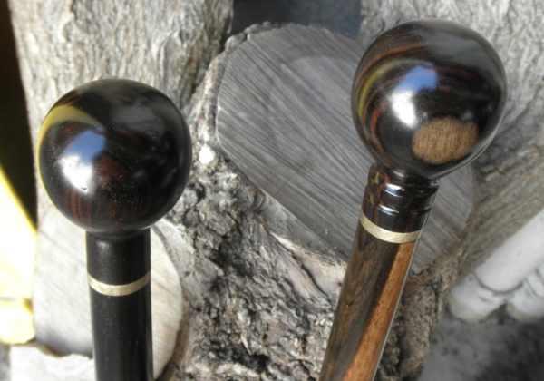 1 Ebony Ball Gear Shift Knob Cane Walking Stick Handle 7