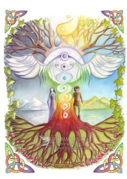 A4 Art Print World Tree Tree of Life Celtic Art Nature | Etsy
