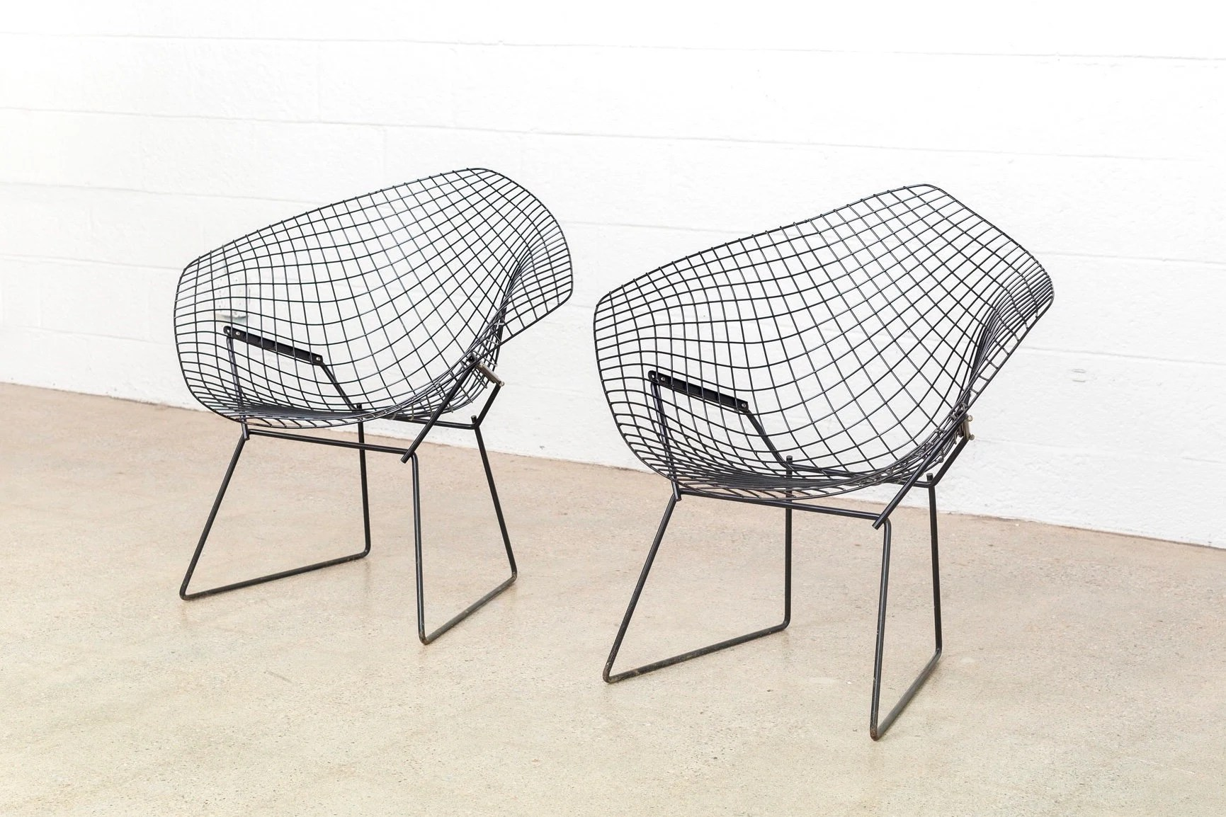 bertoia wire chair original bottom of protectors mid century modern harry for etsy image 0
