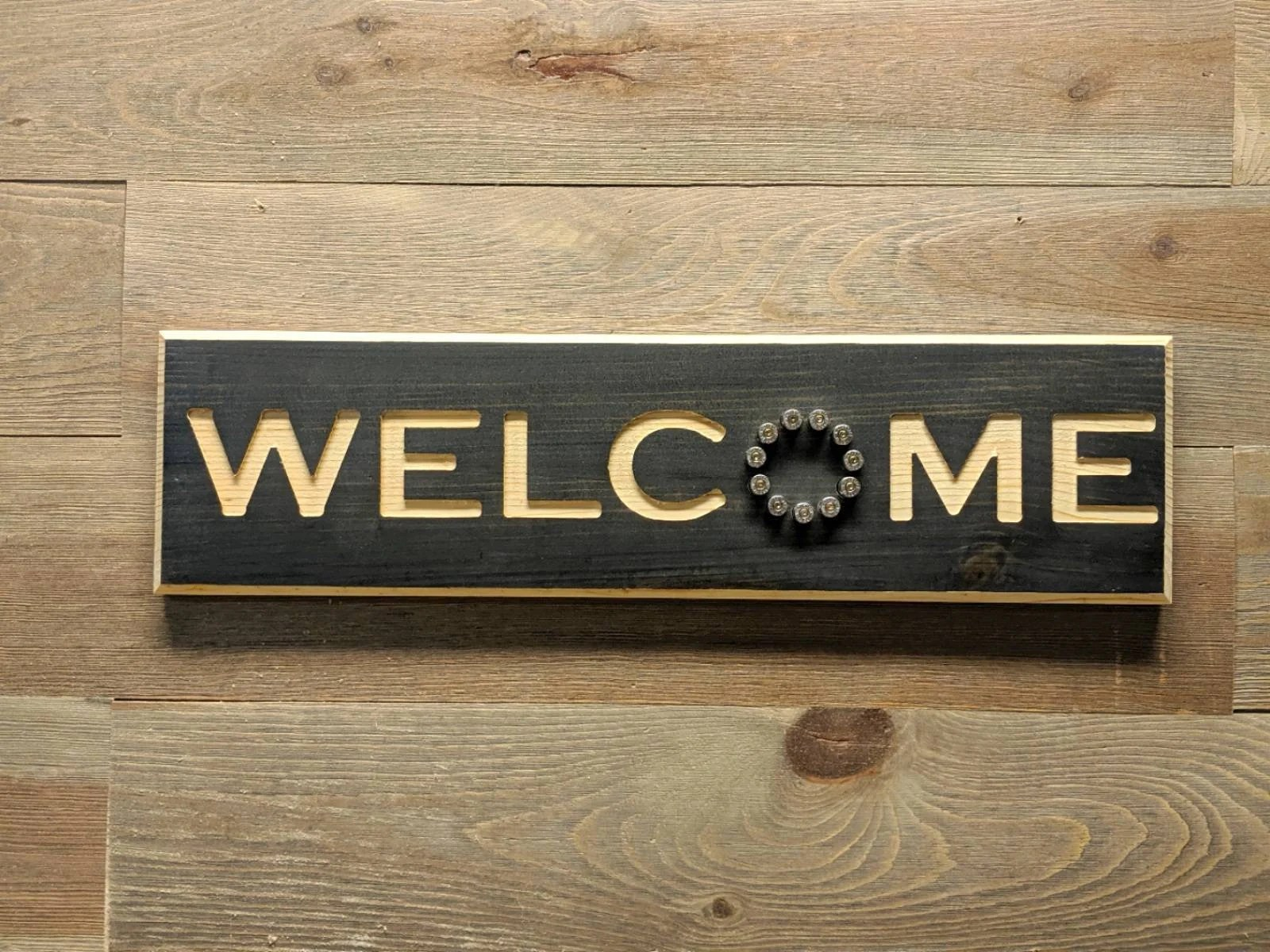 welcome sign wood welcome