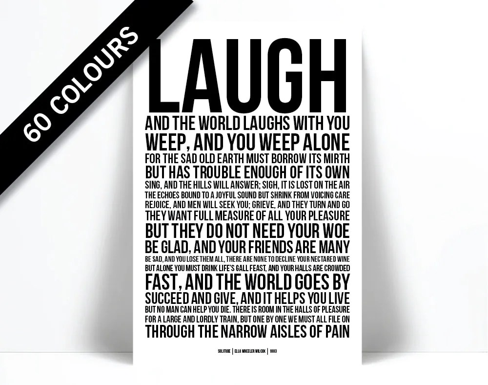 laugh the world laughs
