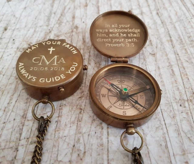 Baptism Gift Baptism Baptism Day Gift Confirmation Christening Gifts Engraved Compass Personalized Compass Confirmation Gift