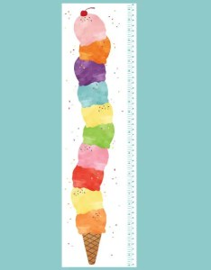 also ice cream growth chart wall decals watercolor etsy rh