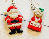 Santa and Mrs. Claus Earrings