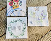 Spring Napkin Set - Perfect for Decoupaging - Set of 3