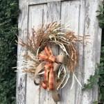 Fall Wreath Corn Husk With Bowfall Wreath Autumn Etsy