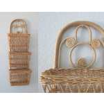 Wicker Wall Basket Hanging Woven Boho Decor