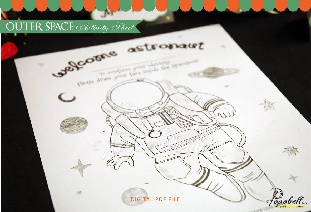 Outer Space Coloring Sheet Printable For Outer Space