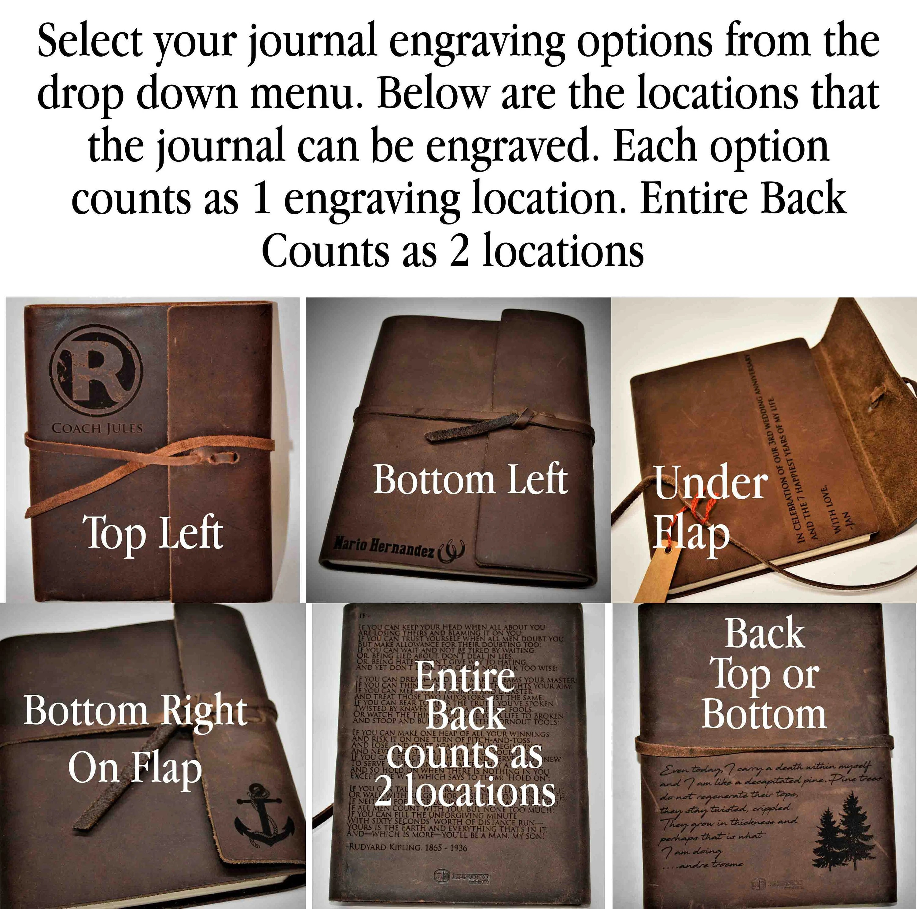 Premium Leather Journal Personalized Custom Engraved image 3